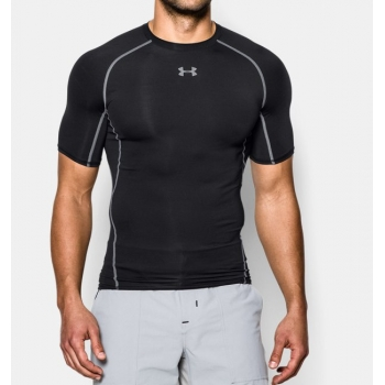 UnderArmour_HeatGearCompression_Shirt_czarny__sklep_forest-camp_przód